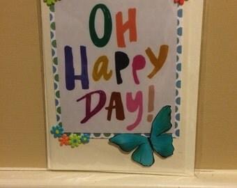 Handmade card with inspirational saying