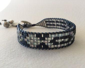Extra-long Navy Macrame Wrap Bracelet