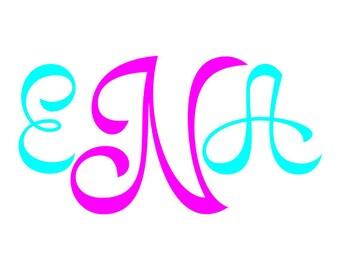 Kajszi Monogram SVG  Font -  svg alphabet - cursive font svg, dxf, eps