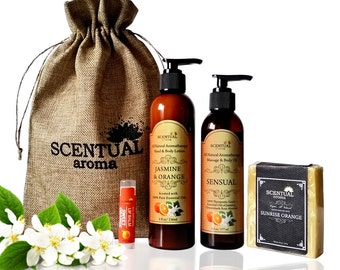Organic Gift Set, Holiday Gift, Bath & Beauty Gift Set, Spa Set, Spa Gift Set, Birthday Gift, Gift Set for Her, Bridesmaid Gift