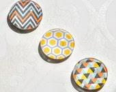 Teacher Gift Set - Fridge Magnets - Set of 3 with a geometric design. Stocking Filler. Gift.