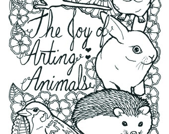 22 Pages Of Animals Coloring Book