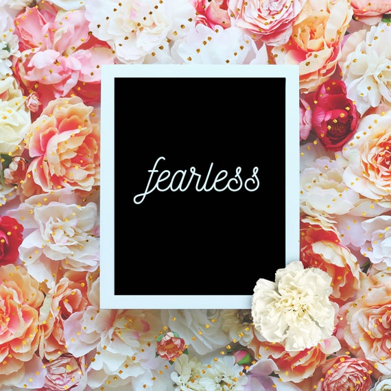 "Fearless - 8x10"" Printable Wall Art - Motivation Print, DIY Art Print -  Typography Print - Home Decor - Instant Download"
