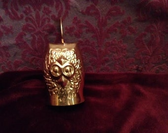 1970's Small Brass Owl Bell