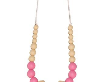 BiteBaby Baby Teether Necklace - Snow White