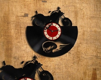 Clock motobike - motobike  art - wall clock - kitchen clock