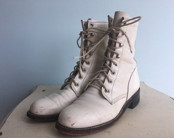 Vintage size 6 Justin lace up boots