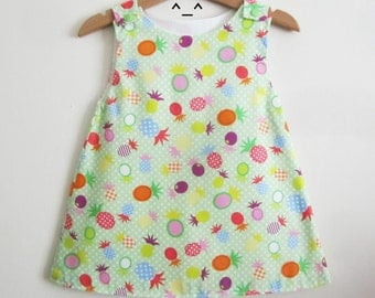 """Pineapple"" 12/18 month girl dress."
