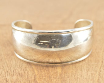 Simple Cuff Bracelet Sterling Silver 30.4g Vintage Estate