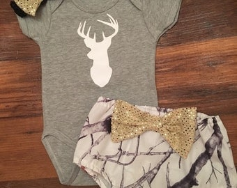 Little girls camo outfit