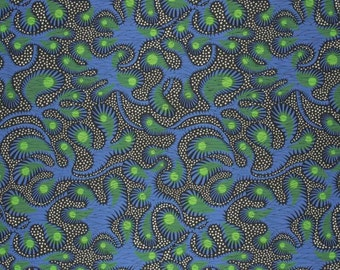 Vlisco Wax Hollandais - 2070 - Dutch Wax Block Print Fabric - African Wax Print Cotton