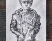 Throwaway | original drawing on 12 x 18 | Graphite on newsprint