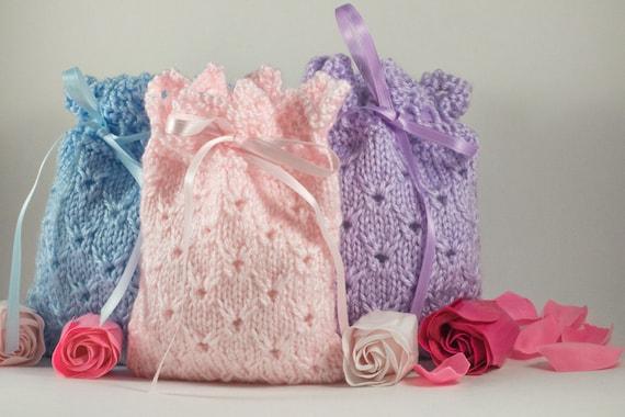 Knitting Pattern Lavender Bag : Knit Sachet Lavender Sachet Holder Potpourri Holder Soap