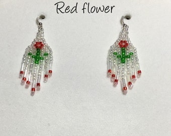 Beaded Flower Earrings