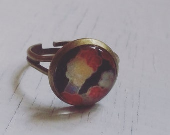 Japanese flowers ring