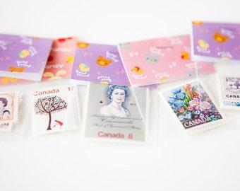 Set of 5 Vintage Canadian Stamp Packs