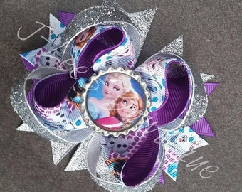 Frozen Anna and Elsa Hair Accessory Bow