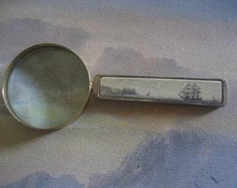 Scrimshaw Magnifying Glass