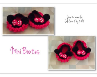 Mini Mouse Booties
