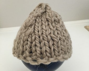 Baby Hat - Newborn Hat - Newborn Beanie Hat - Knitted Baby Hat - Photo Prop