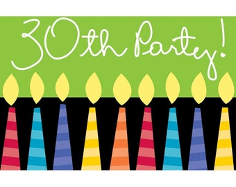30th Birthday Party invitations w/ envelopes