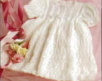 Knitting Pattern Baby Christening gown baptism robe Instant  Download