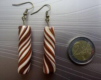 Sticks barley brown sugar earrings
