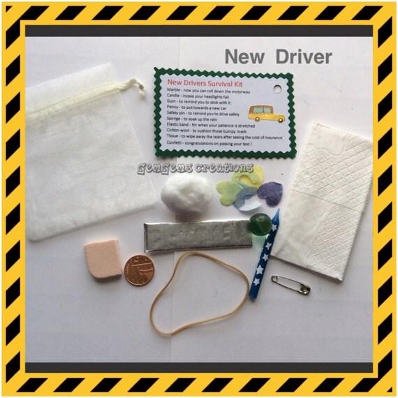 Unique Novelty Survival Kit: New Driver Survival Kit Novelty Fun Keepsake By