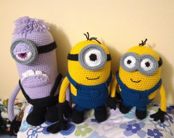 Crochet Minion Amigurumi Pattern Set