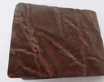 Elephant Skin Wallet - Exotic Leather Handcrafted