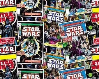 Star Wars Fabric, Star Wars Comic Strip Fabric, Star Wars The Empire Strikes Back Fabric, Fabric by Carmelot Fabrics, Fat Quarter