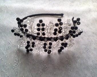 Headband for beaded hair. Hair accessory. Handmade.
