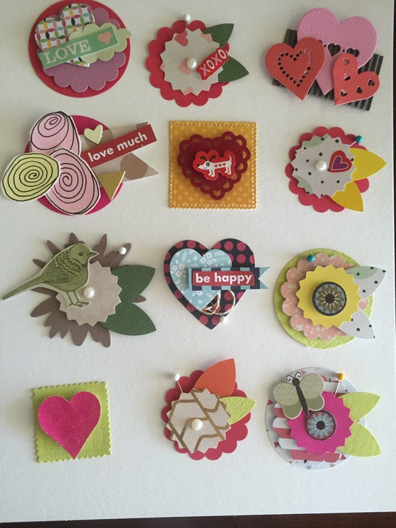 Items Similar To Craft Scrapbooking Embellishments