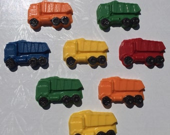 CONSTRUCTION TRUCKS Cupcake Toppers*Dump Truck*Cement Mixer*Tractor*Construction Party*Boy's Birthday*