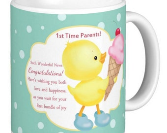 Baby Mug, Expectant Parents for the 1st time, a keepsake for the 1st time parents
