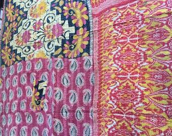 Free shipping,Handmade Kantha quilt