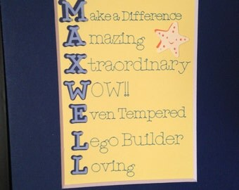 Personalized  Personality Picture/Wall Hanging