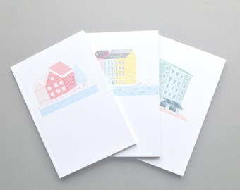 House Notebooks - Set of Three A6