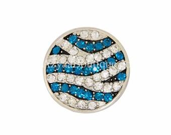 Silver Blue Zirconia Crystal Ring