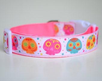Owl Dog Collar, Dog Collars For Girls, Girl Dog Collars, Sugar Owls Dog Collar, Adjustable Dog Collar, Buckle Dog Collar, Dog Collar Girl