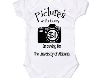 Pictures with Baby Onesie - You Pick College!