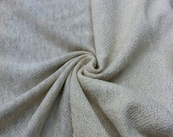 100% Cotton French Terry Cancun Sand