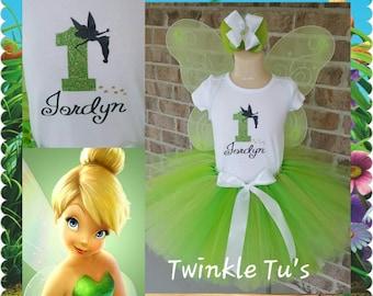 ON SALE!!! Tinkerbell Fairy Birthday/Disney Trip Tutu Outfit