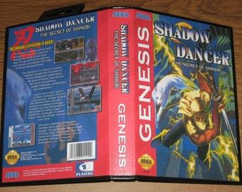 Shadow Dancer: The Secret of Shinobi Custom Case & Fan Artwork (No Game)