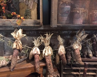 Primitive Grubby Grungy Dried Corn on Cob Garland  Farmhouse Early Look