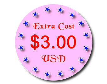 Extra Cost Payment USD 3.00