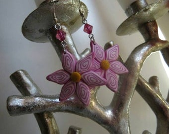 Pink Flower Earrings!