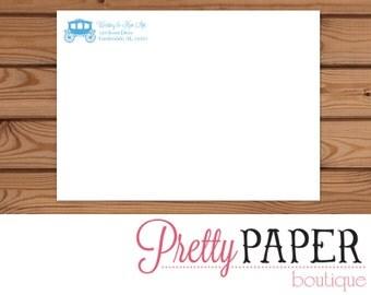 Cinderella Birthday Invitation Printed Envelope - A7