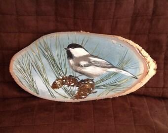 bird, wood, forest, nature, paint