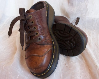 Doc Martens Brown Leather Shoes UK size 6 US size 8